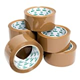 Pakit Lot de 6 rouleaux de ruban d'emballage adhésif ultra collant Marron 48 mm x 66 m par Pakit.