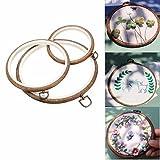3 Stück Stickrahmen, ARTISTORE H?lzern Stickerei Hoop / Embroidery Ring / Cross Stitch Hoop f¨¹r Kunsthandwerk Handn?hen