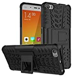 Wow Imagine™ Defender Tough Hybrid Armour Shockproof Hard PC + TPU with Kick Stand Rugged Back Case Cover for XIAOMI MI MI5 MI 5 - Black