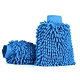 Aodoor (2 pièces) Voiture Wash Mitt, Microfibre chenille car wash mitt gants corail velours absorbant wet/ dry clean, lavage de...