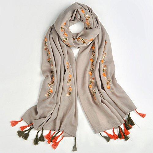 serviette de plage Foulard sauvage à double usage en écharpe à foulard long à la broderie en écharpe à manches longues ( Couleur : D ) C