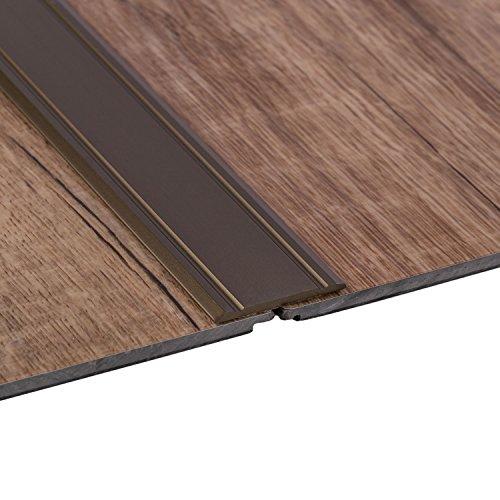 Gedotec Übergangsprofil selbstklebend SUPERFLACH Alu Bronze Übergangsschiene   Breite 30 mm   Länge 100 cm   Boden-Profil Laminat - Fliesen - Parkett UVM.   1 Stück - Ausgleichsprofil Aluminium