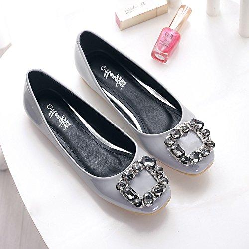 &qq Appartement avec des femmes de louche, chaussures à bout plat plat, chaussures de mode 37