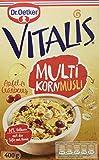 Dr. Oetker Vitalis Multikorn Apfel & Cranberry: Frühstücksmüsli mit Äpfeln und Cranberries, 8er Packung, (8 x 400 g)