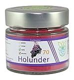 VITARAGNA Holunder Fruchtpulver 70, Qualitätsprodukt mit reinem Holunder-Fruchtextrakt, Holunderbeer-Extrakt, vegan und ohne Zusätze
