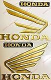 Wappen Logo Decal Honda, Paar Flügel Hornet Relief, Sticker Kunstharz 3d Effekt. Für Benzintank oder Helm