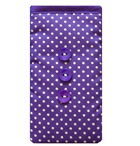 Purple Polka Dot Print Mobile Phone Sock Pouch For Samsung Galaxy S8