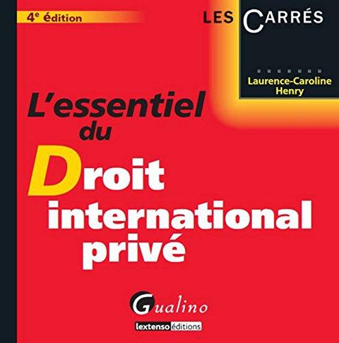 L'Essentiel du droit international privé, 4ème édition