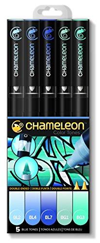 Chameleon Marker Set Blautöne mit 5 Stiften