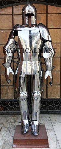 Kostüm Milanaise - NAUTICAL MART Nautisches Mart Mittelalter Milanaise Full Suit Armour Halloween-Kostüm-Eigene Größe