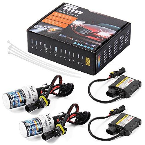 XCSOURCE 55W HID Xenon Conversion Kit Slim Vorschaltgerät Single Beam und bi-xenon Optionen H790046000K Scheinwerfer Canbus Fehlerfrei ld708 (9004 Conversion Kit)