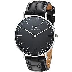 Daniel Wellington Mixte Analogique Quartz Montre avec Bracelet en Cuir DW00100147