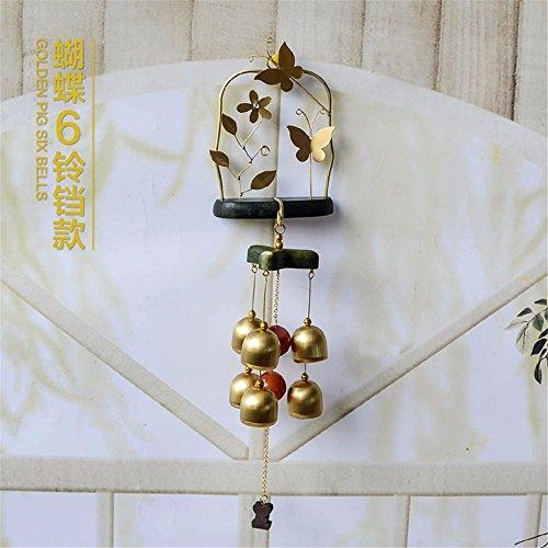 Massivholz Wind Chime Dekorationen Glocken Geburtstag Hochzeit Geschenk, Butterfly Stil-1 (Butterfly 1. Geburtstag Dekorationen)