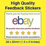 Ebay Farbe Thank You Für Dein Kaufen Rückmeldungen Aufkleber / Etikett - Packung / Umschlag / Box / Post Etikett - Ideal Für Gebrauch Mit A4 Integriert Inkjet Adresse / Post / Versand / Rechnung Etikett