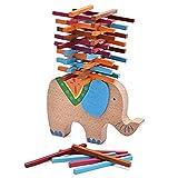 FunnyGoo en Bois Multi Couleur des Blocs d'apprentissage Précoce équilibre Jouet de Jeu d'équilibre pour Les Enfants (Balance des Éléphants)...