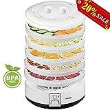 Aicook Deshidratador Alimentos, Deshidratadora de Frutas y Verduras 5 Bandejas Extraíbles, 500W,...
