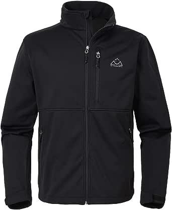 donhobo Mens Full Zip Fleece Lined Jacket Waterproof Hiking Jacket Outdooor Coats