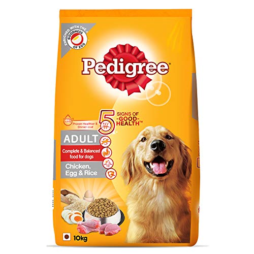 Amazon Exclusive - Pedigree Adult Dog Food (High Protein variant) - Chicken, Egg & Rice, 10 Kg Pack