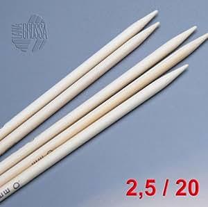 Lana Grossa Nadelspiel / Strumpfstricknadeln Bambus 20cm / 2,5mm
