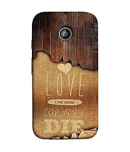 PrintVisa Designer Back Case Cover for Motorola Moto E2 :: Motorola Moto E Dual SIM (2nd Gen) :: Motorola Moto E 2nd Gen 3G XT1506 :: Motorola Moto E 2nd Gen 4G XT1521 (Love Lovely Attitude Men Man Manly)