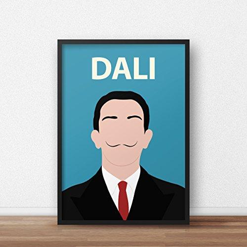 Salvador Dali Poster Print // minimalistisch - inspirierend - Retro Art - Minimalist - Inspirational - Colourful - Minimalist (Inspirierende Poster Kunst)