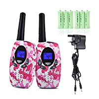 Upgrow M-880 Walkie Talkies 8 Channel 2 Way Radio Kids Toys Wireless 0.5W PMR446 Long Distance Range Walkie Talkie for Field Survival Biking Hiking