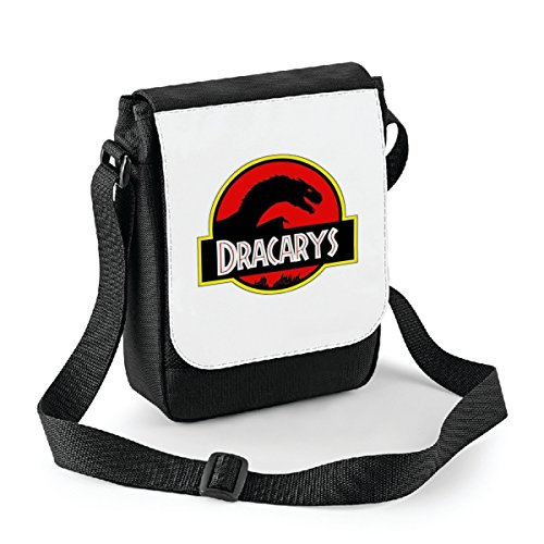 Mini borsa a tracolla Game of Thrones Dracarys - parody - il trono di spade - serie tv Bianco