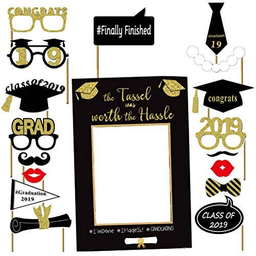 BESTOYARD Foto-Stand-Requisiten des Abschluss-Glitter-2019 Glückwunsch-Abschlussfeier-Bevorzugungen (Requisiten Für Foto-stand Ein)