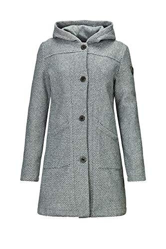 G.I.G.A. DX Damen Kajimara Strick Parka Mit Kapuze/Mantel Mit Seitlichen Eingrifftaschen, grau, 38
