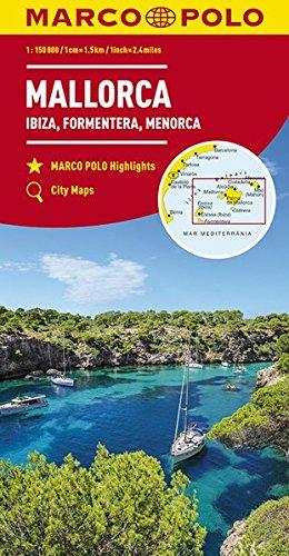 Preisvergleich Produktbild MARCO POLO Karte Mallorca, Ibiza, Formentera, Menorca 1:150 000 (MARCO POLO Karten 1:200.000)