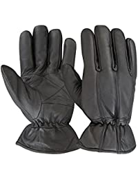 Men's Thermal Fleece Lining Winter Genuine Leather Classic Gloves