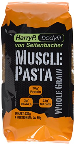 HarryP Bodyfit Muscle Pasta / Eiweiß Nudeln Whole Grain Edition, 2er Pack (2 x 330 g) (Protein Pasta)