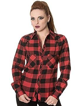 Camisa Banned Chequered Corset (Negro/Rojo)