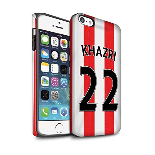 Offiziell Sunderland AFC Hülle / Matte Harten Stoßfest Case für Apple iPhone 5/5S / Pack 24pcs Muster / SAFC Trikot Home 15/16 Kollektion Khazri