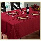 Burgundy / Wine Table Runner Luxury Jacquard Hampton Design