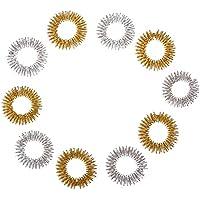 5x 2 Finger-Reflexzonen Akupressurringe Massageringe Farbe Gold und Silber, groß preisvergleich bei billige-tabletten.eu