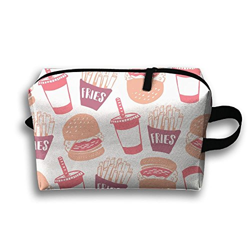 Fries Burger Travel Cosmetic Bag Make-Up Bags Stationery Holder