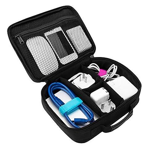 Cozyswan Aufbewahrungstasche Elektronik Organizer Tasche für USB Kabel Netzkabel Akku