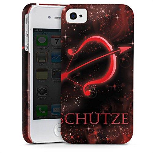 Apple iPhone X Silikon Hülle Case Schutzhülle Sternzeichen Schütze Bogen Premium Case glänzend