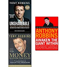 tony robbins collection 3 books set (unshakeable: your guide to financial freedom, money master, awaken the giant within: how to take immediate control of your mental)