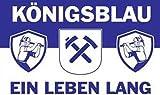 Gelsenkirchen Fahne ca. 90 x 150 cm - Königsblau - Ein Leben lang
