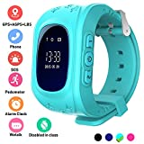 Kids Smartwatch GPS Tracker Anti-Lost Wrist SIM SOS Call Voice Chat Phone Pedometer by Parent...