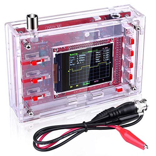 ETEPON Kit Osciloscopio Digital + Cáscara/Código Abierta 2.4 Inch TFT 1Msps con Sonda/Kit de Aprendizaje