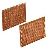 lgking supply - Juego de placas para prototipado de circuitos impresos (5 unidades, 90 x 70 mm)