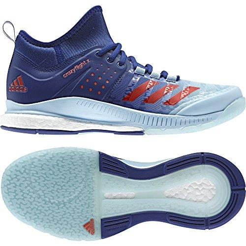 adidas Crazyflight X Mid W, Scarpe da Pallavolo Donna, Blu (Tinmis/Narres/Azuhie), 44 EU