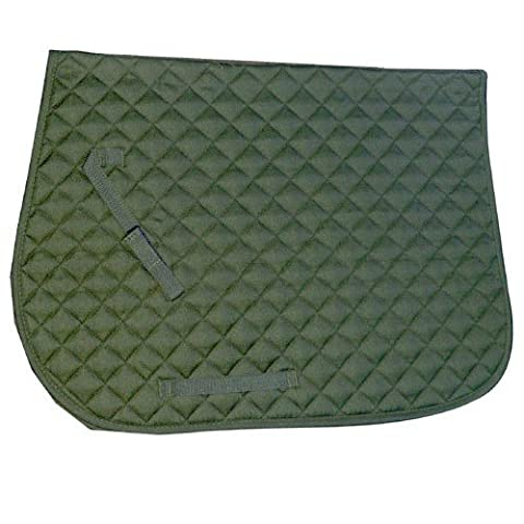 Intrepid International English Saddle Pad, Hunter Green