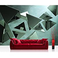 Non-woven Photographic Wallpaper Wall Paper–Top Quality Premium Plus Photo Wallpaper Wall Picture XXL Decorative Wall Picture Wall Mural Photo Wallpaper Mural Abstract Background Triangle–No. 216 preiswert