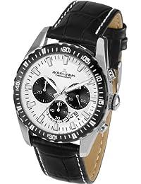 Jacques Lemans Herren-Armbanduhr XL Liverpool Chronograph Quarz Leder 1-1801B