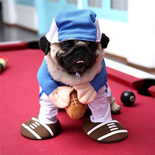 Hillento Haustier Kostüm, lustige süße Haustier Hund Katze Baseball Einheitliche Suite Outfit für Halloween Weihnachten Urlaub Dress up Cosplay