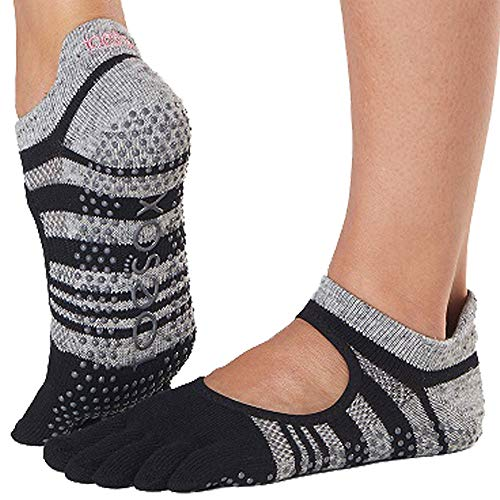 Socken, Ballet Schuhe (Toesox Damen Grip Pilates Barre Socks-Non-Slip Bellarina Full Toe for Yoga & Ballet, Eclipse, m)
